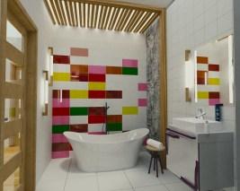 nowoczesna łazienka w domu jednorodzinnym