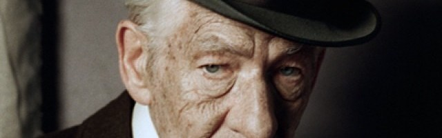 "Barzhon Approves: Over 70 actors have previously played Sherlock Holmes. Now he's 93 years old and it's my turn, in ""Mr Holmes."" The great detective has long since retired to the countryside, with his caretaker (Laura Linney) and his bees. But there's one last case to be solved. And there's the sting. #MrHolmes by ianmckellen"