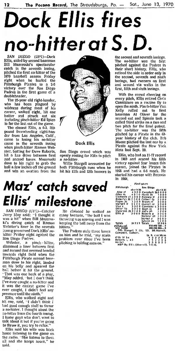 Dock Ellis No-Hitter