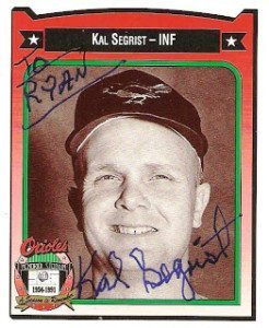 In 2010, The Great Orioles Autograph Project blogger Ryan commented about Segrist's shaky signature.