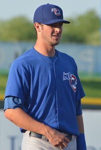 Did Kris Bryant leave any autographs behind? That'll be one of the mysteries drawing fans to Autographed Ball Giveaway Night Aug. 26 in Des Moines. By Minda Haas from Omaha (Kris Bryant) [CC BY-SA 2.0 (http://creativecommons.org/licenses/by-sa/2.0)], via Wikimedia Commons