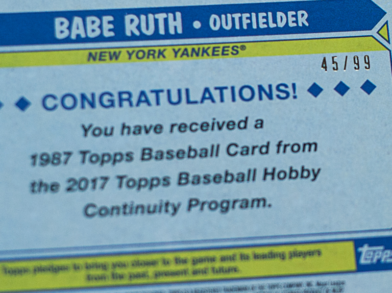 2017 Babe Ruth Refractor