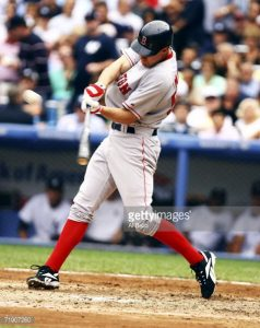 David Murphy bats for the Red Sox against the New York Yankees in 2006, (Al Bello/Getty Images North America)