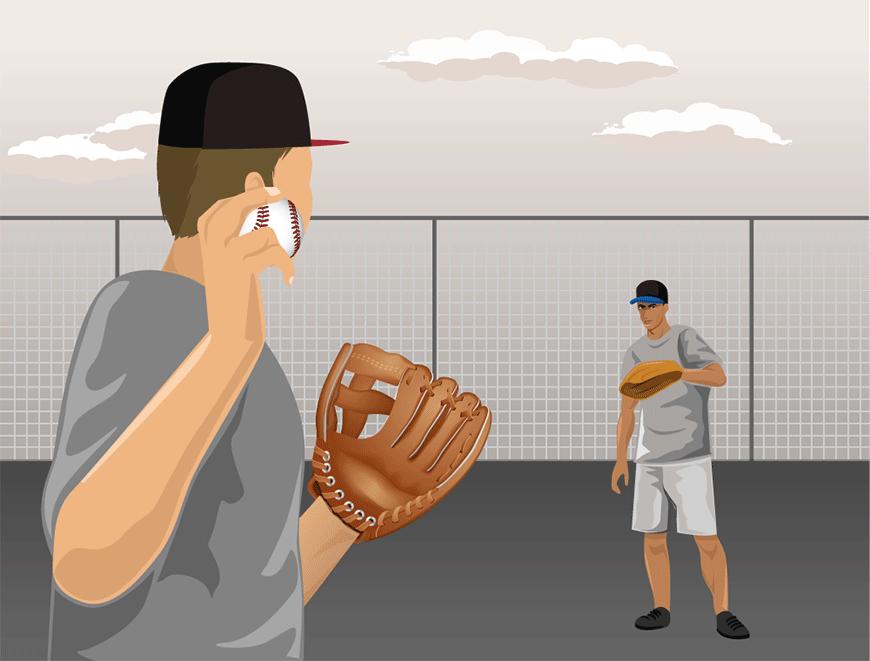 how to break in a baseball glove step