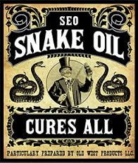 snake oil and SEO don't mix