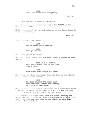 English: Example of screenplay formatting. Wri...