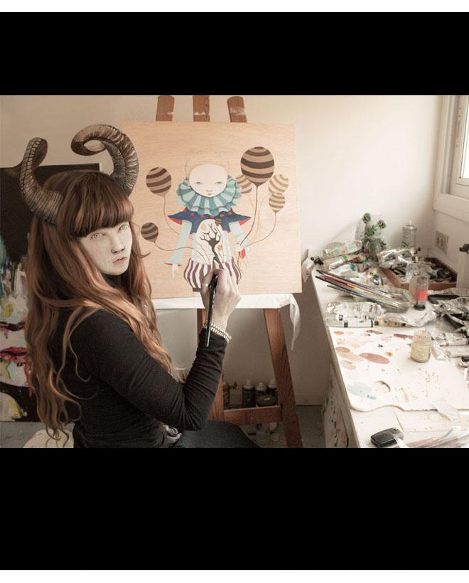 Ivana Flores portrait by Justin Case