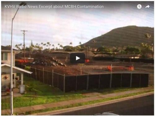 KVHV Radio News Excerpt about MCBH Contamination