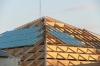 Na ostatniej, trzeciej piramidzie pojawiają się fragmenty szklanego dachu