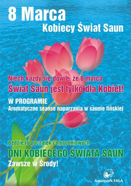 8 marca - sauny na Fali dla kobiet.