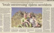 Artikel `Totale onstressing tijdens wereldreis´ uit NHD 6 jan 2007