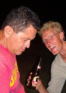 Eduardo didn´t think the conversation was that exciting! Eelco did!