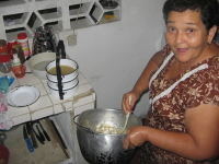 Olga aan het koken