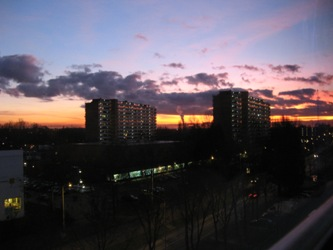 Uitzicht over Zaandam vanaf de Vermiljoenweg