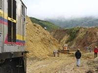 Er werd nog gewerkt aan het verwijderen van de landverschuivingen