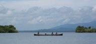 Uitzicht over Laguna Ibans