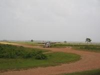 Vliegveld Ahuas, met duidelijk veranderd landschap