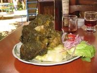 Pachamanca, een enorme berg vlees