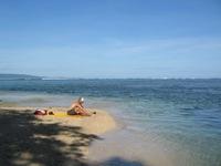 Bas on private beach, Punto Cahuito