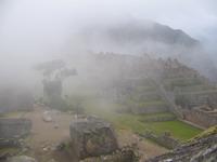Het werd steeds mistiger op de Machu Picchu