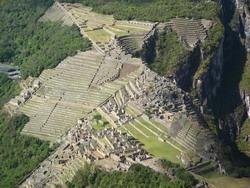Hét uitzicht over Machu Picchu