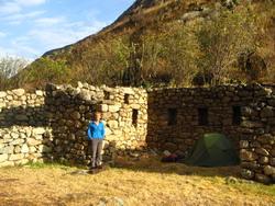 Kamperen op inca ruïnes