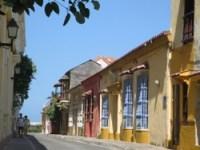 Straatje in het oude centrum van Cartagena