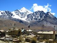 Uitzicht op de Huayna Potosí