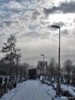 Zima na cintoríne