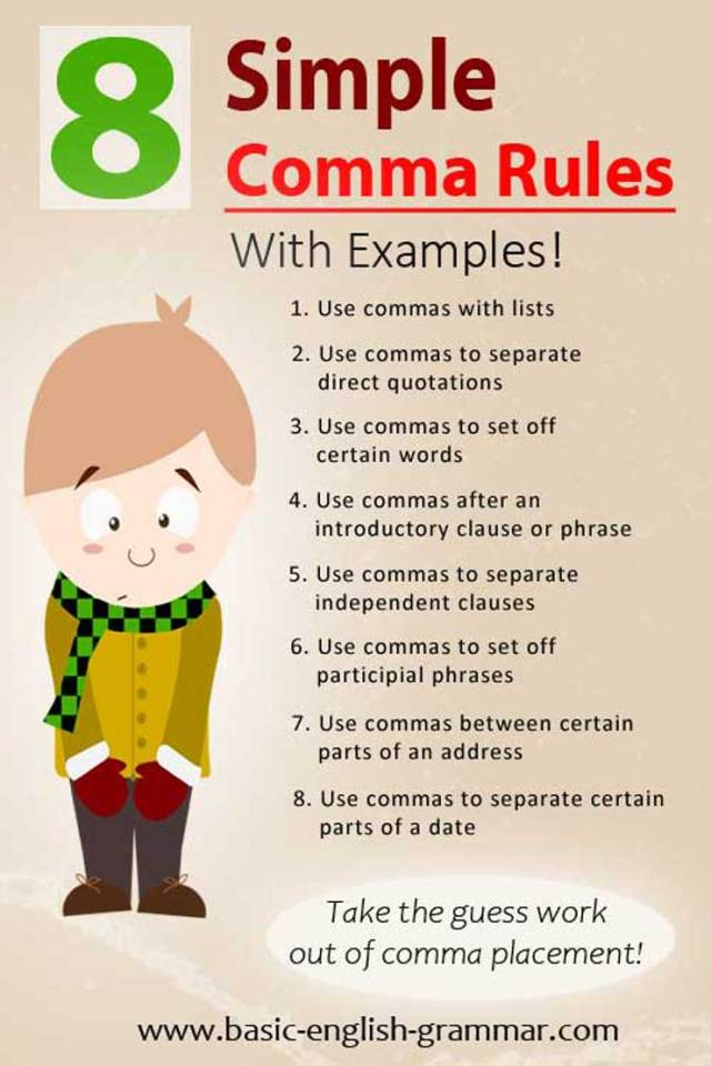 17 Simple Comma Rules With Examples  Basic English Grammar
