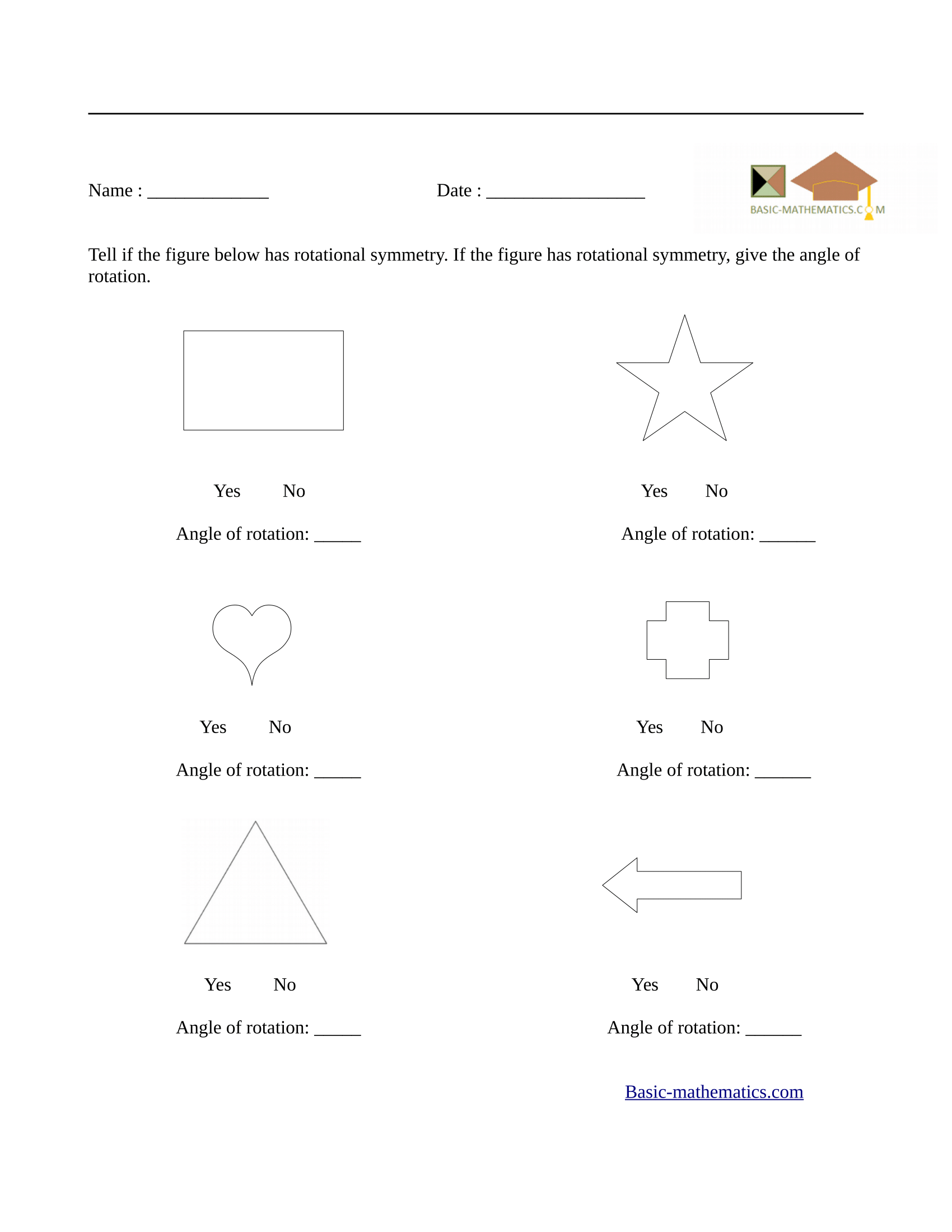 Symmetry Worksheet For 2nd Grade