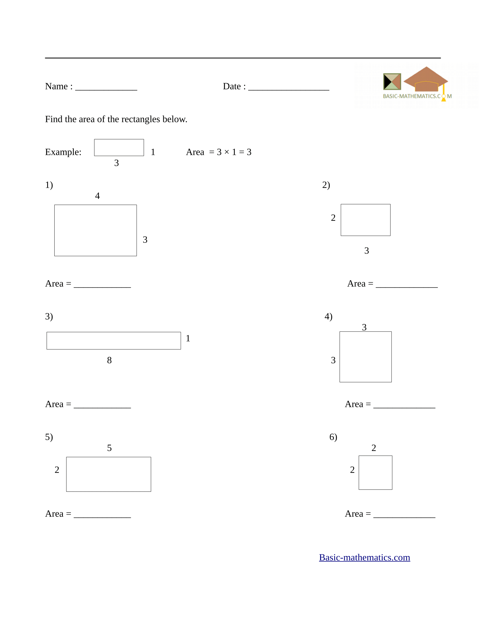 Square Area And Perimeter Worksheet