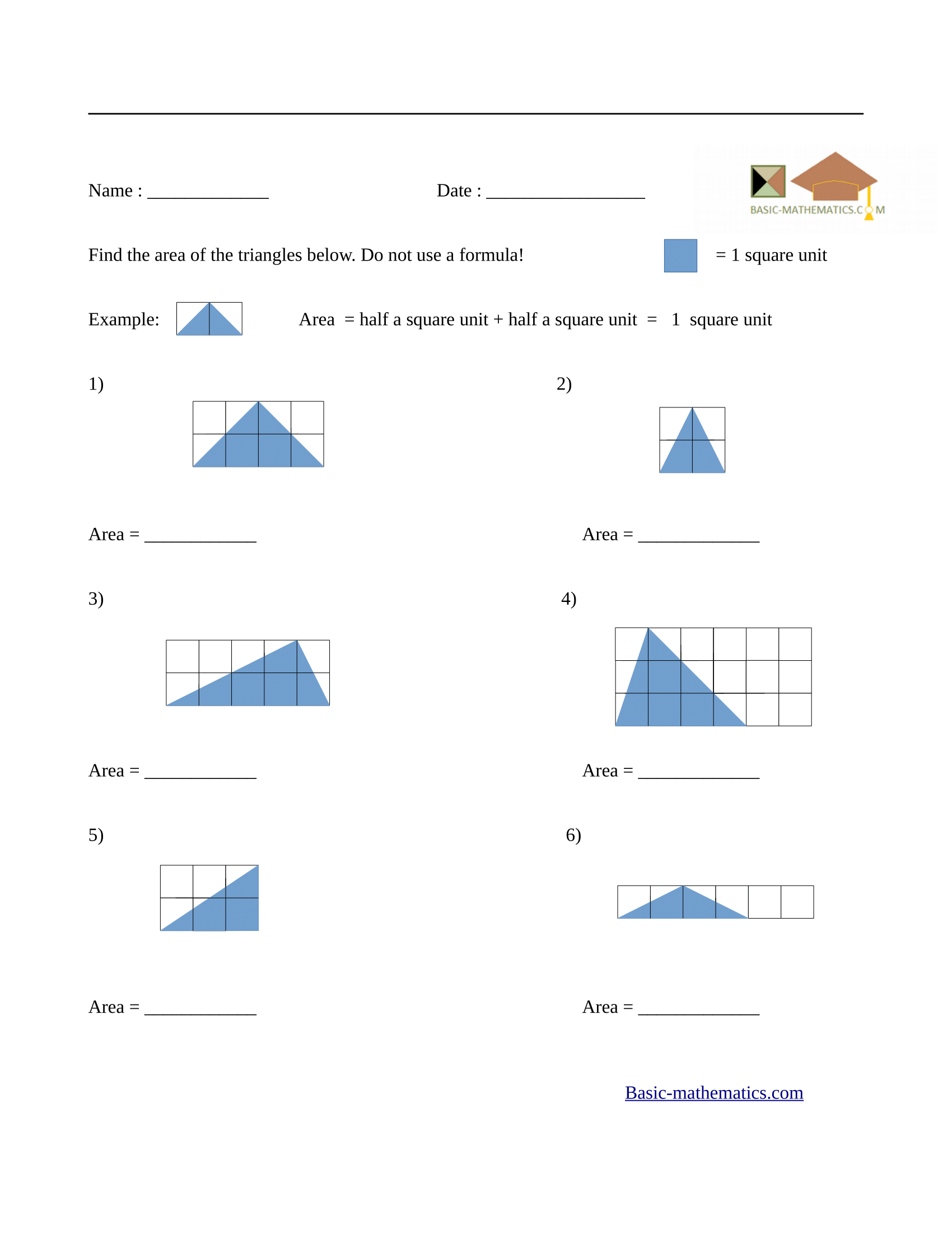Worksheets Area Of Triangle Worksheet Cheatslist Free Worksheets For Kids Amp Printable