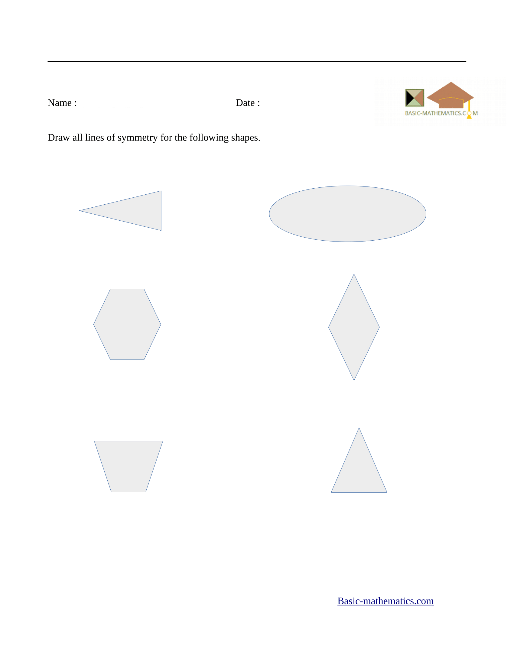Symmetry Worksheets