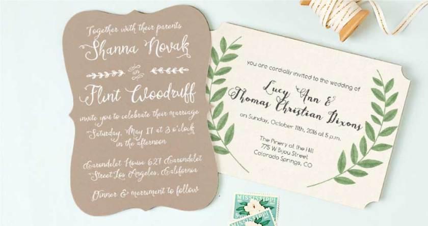 Wedding Invitation Sles