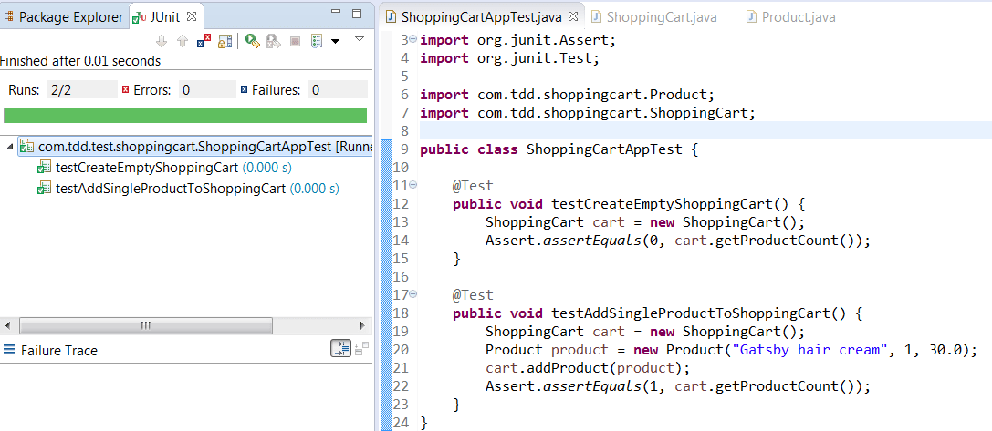 Shopping cart Test driven development Archives - Basics Behind
