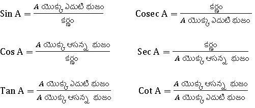 TS X maths . త్రికోణ మితి 2