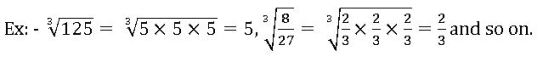 example for cube root