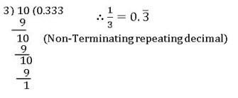 icse ix class nomterminating repeating decimal form