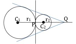ts inter maths 2B the circles touch each other externally