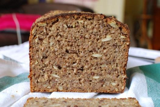 Rye Sourdough bread sliced - Basics of Happy - www.basicsofhappy.com
