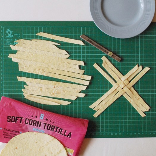 How to weave a edible tortilla basket