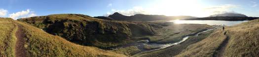 Panorama picture at 'Sheep's Waterfall' off route 56. Hidden and magical place.