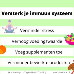 Versterk immuun systeem