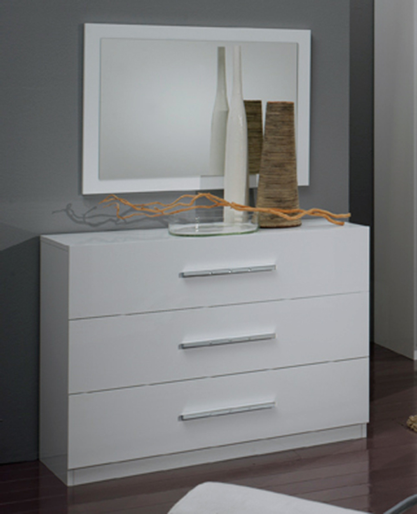 Commode 3 Tiroirs Gloria Blanc