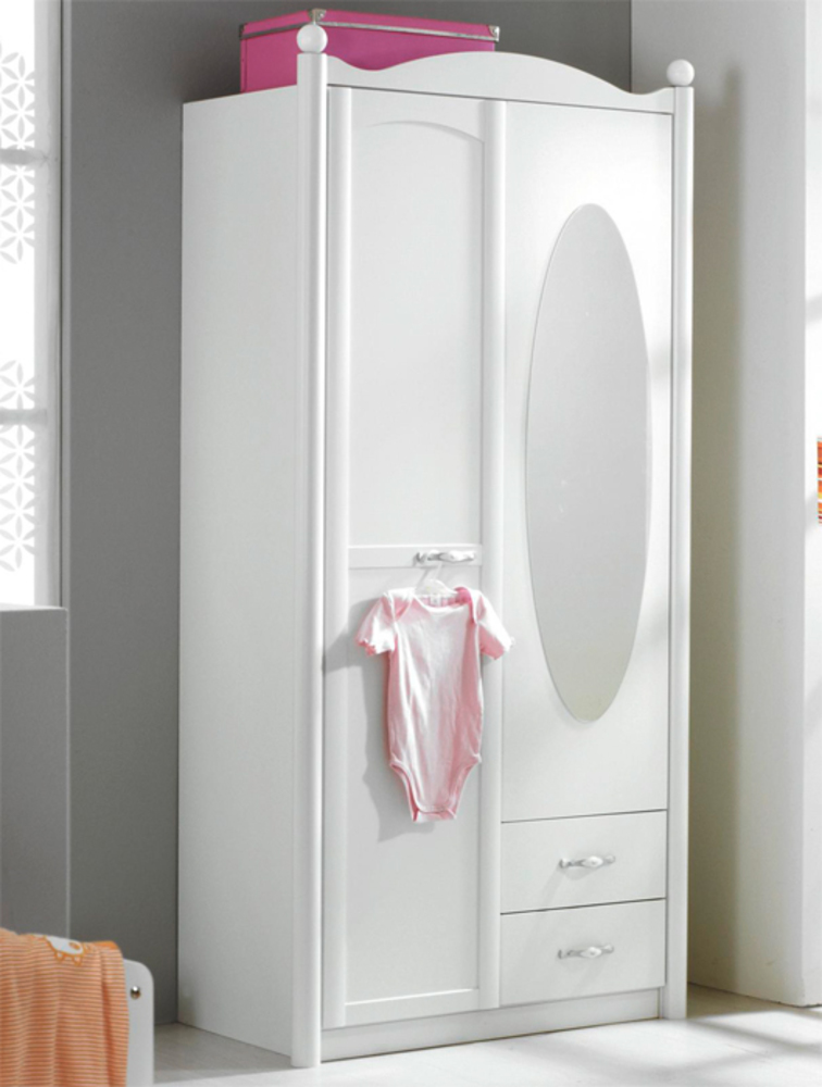 Armoire 2 Portes Lilly Blanc Neige