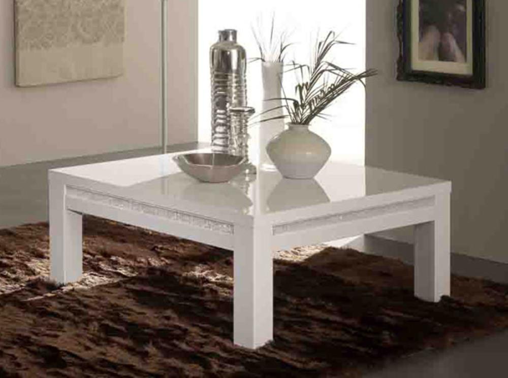 table basse prestige 302 laque blanc