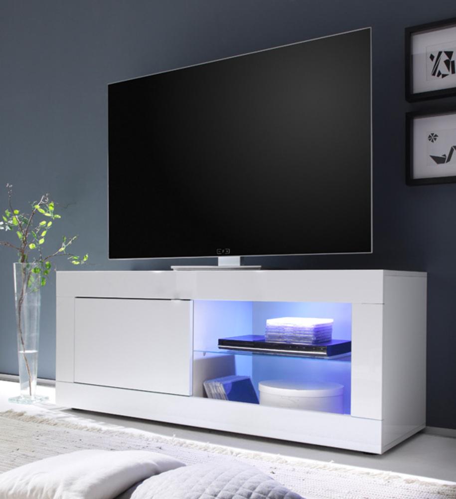 meuble tv costa blanc brillant
