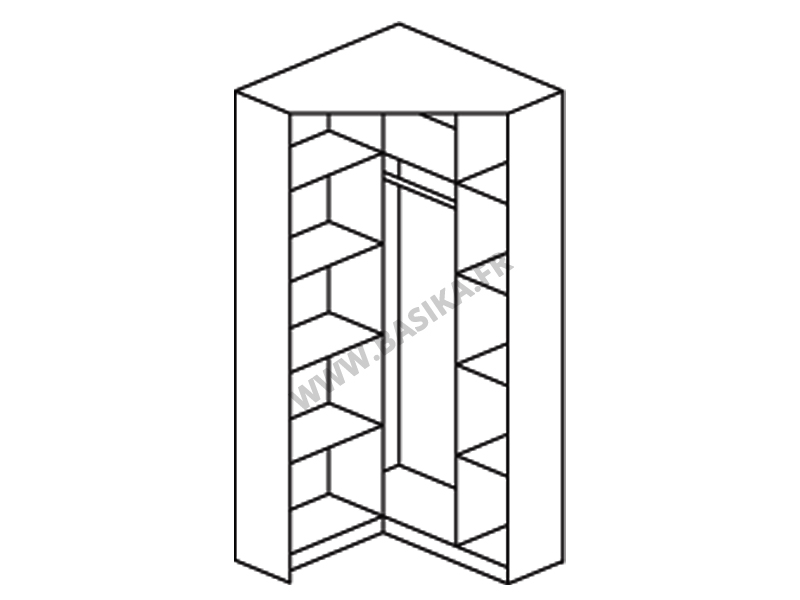 armoire d angle celle blanc blanc brillant