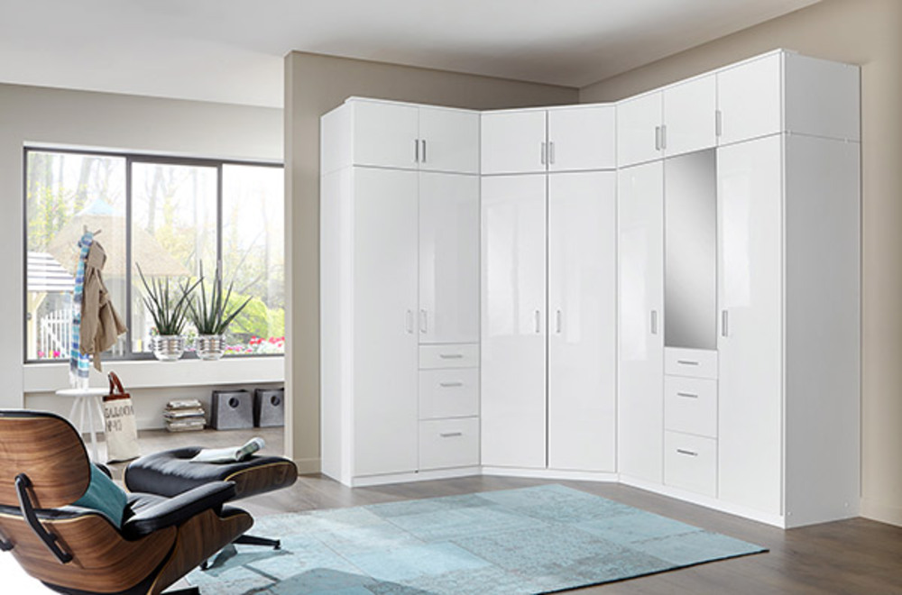 Armoire Dangle Clack Blanc Portes Miroirs